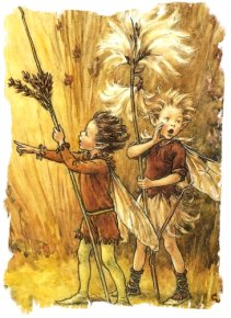 Rush Grass and Cotton Grass Fairies - Cicely Mary Barker